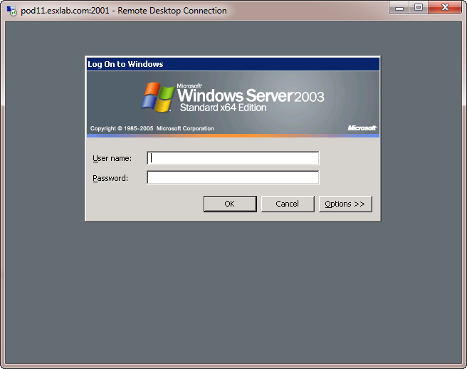 Esxlab Performing An Ms Terminal Services Network